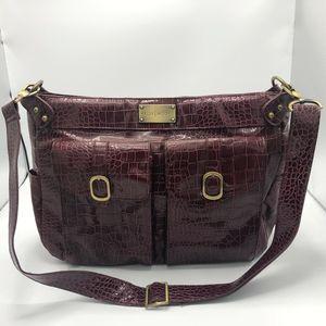 Kelly Moore Cranberry Croc Design Utility Handbag
